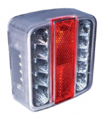 RCT445 4 function Clear LED Trailer Lamp - Small